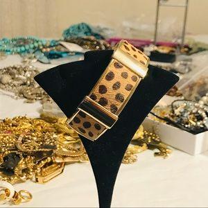 J. Crew Jewelry - J. Crew Leopard and Enamel Link Bracelet Bundle